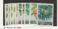 Lebanon, Postage Stamp, #392-401 Mint NH & LH, 1963 Fruit, JFZ