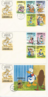 Anguilla, Postage Stamp, #434-443 First Day Covers, 1981 Disney, JFZ