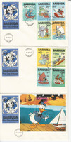 Barbuda, Postage Stamp, #478-487 First Day Cover, 1981 Disney, JFZ