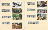 British Stamp Royalty Collection, 5 Pages, 1985 Queen Elizabeth Set Mint NH (BB)