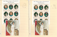 British Stamp Royalty Collection, 16 Pages 1996 Queen Elizabeth Set Mint NH (BD)