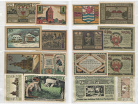 Germany Notgeld Notes 1920's, Lot 8 Different, Stammbach, Waterloo (V)