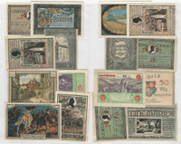 Germany Notgeld Notes 1920's, Lot 8 Different, Stammbach, Gemeinde (W)