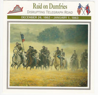 1995 Atlas, Civil War Cards, #83.05 Raid on Dumfries, Jeb Stuart