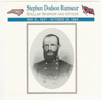 1995 Atlas, Civil War Cards, #85.13 Stephen Dodson Ramseur