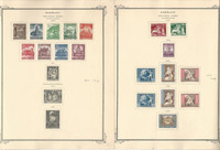 Germany Semi Postals on 8 Scott Specialty Pages, 1940-44 World War II, DKZ