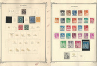 Germany Stamp Collection on 4 Scott Specialty Pages, 1948-52, DKZ