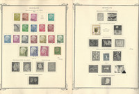 Germany Stamp Collection on 4 Scott Specialty Pages, 1954-57, DKZ