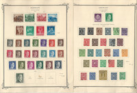 Germany Stamp Collection on 6 Scott Specialty Pages, 1935-48 World War II, DKZ