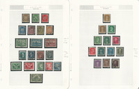 Germany Stamp Collection 1924-1948 on 11 Pages, World War II, DKZ