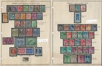 Germany Stamp Collection 1947-48 on 3 Minkus Pages, US & Soviet Zone, DKZ