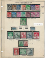 Germany Stamp Collection 1948-49 on Minkus Page, Anglo American Zone, DKZ