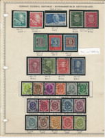 Germany Stamp Collection 1949-52 on Minkus Page, Federal Republic, DKZ
