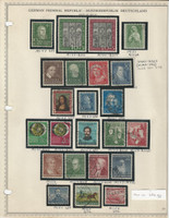Germany Stamp Collection 1951-52 on Minkus Page, Federal Republic, DKZ