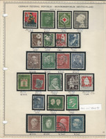 Germany Stamp Collection 1953-55 on 2 Minkus Pages, Federal Republic, DKZ