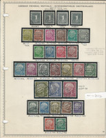 Germany Stamp Collection 1954-58 on Minkus Page, Federal Republic, DKZ