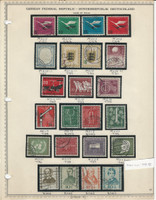 Germany Stamp Collection 1955-56 on Minkus Page, Federal Republic, DKZ