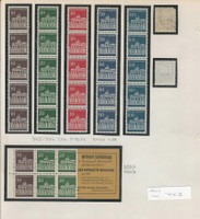 Germany Stamp Collection 1965-69 on 2 Pages, 952-956 Coil Strips, DKZ