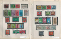 Germany Stamp Collection 1966-76 on 15 Pages, Neatly Identified, DKZ