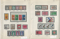 Germany Stamp Collection 1972-75 on 9 Pages, Neatly Identified, DKZ