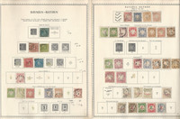 Germany Stamp Collection on 8 Minkus Specialty Pages, 1849-20 Bavaria, DKZ