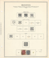 Germany Stamp Collection on Minkus Specialty Page, 1852-65 Brunswick, DKZ