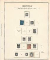 Germany Stamp Collection on Minkus Specialty Page, 1852-67 Oldenburg, DKZ
