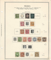 Germany Stamp Collection on Minkus Specialty Page, 1850-67 Prussia, DKZ