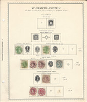 Germany Stamp Collection on Minkus Specialty Page, 1850-66 Schleswig, DKZ