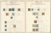 Germany Stamp Collection on 2 Minkus Specialty Pages, Thurn & Taxis, DKZ
