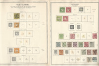 Germany Stamp Collection on 6 Minkus Specialty Pages, Wurttemberg, DKZ