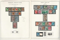 Germany Stamp Collection 9 Minkus Specialty Pages, 1945-49 Occupation, JFZ