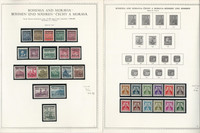 Germany Stamp Collection 7 Minkus Specialty Pages, WWII Bohemia, JFZ