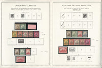 Germany Stamp Collection 12 Minkus Specialty Pages, Colonies 1887-1916, JFZ