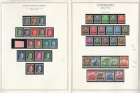 Germany Stamp Collection 16 Minkus Specialty Pages World War Occupations JFZ