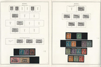 Germany Stamp Collection 6 Minkus Specialty Pages, 1920-23 Memel, JFZ