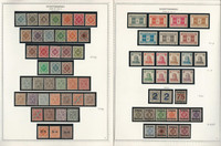 Germany Stamp Collection 11 Minkus Specialty Pages, Thurn, Wurttemberg, JFZ