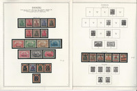 Germany Stamp Collection 19 Minkus Specialty Pages, Danzig 1920-39, JFZ