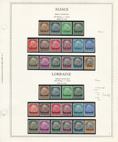 Germany Stamp Collection 1 Minkus Specialty Page, Alsace Lorraine 1940, JFZ