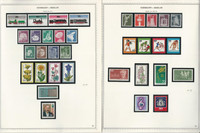 Germany Berlin Stamp Collection 18 Minkus Specialty Pages, 1975-1982, JFZ