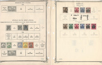 Germany Stamp Collection on 13 Scott Pages, Colonies, Offices, States, DKZ