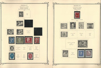 Germany Stamp Collection, 70 Scott Specialty Pages, 1949-1977 Few Stamps, DKZ