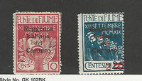 Fiume, Postage Stamp, #107, 105 Mint Hinged, 1920, JFZ