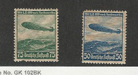 Germany, Postage Stamp, #C57-C58 Mint Hinged, 1936 Zeppelin,, JFZ