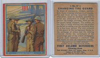 R50 Goudey, First Column Defenders, 1940, #17 Changing The Guard (B)