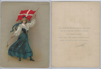 T7 Turkish Trophies, Hamilton King Girls Flag, 1910, #73 Denmark