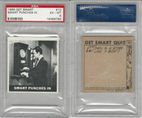 1966 Topps, Get Smart, #10 Smart Punches In, PSA 6 EXMT