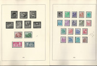 Germany DDR Stamp Collection 1950-1956 in Linder Hingless Album, DKZ
