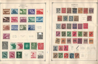 Germany Stamp Collection on 16 Scott International Pages, 1919-45 BOB, DKZ