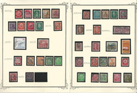 Germany Town Cancel Stamp Collection on 24 Scott Specialty Pages (A), DKZ